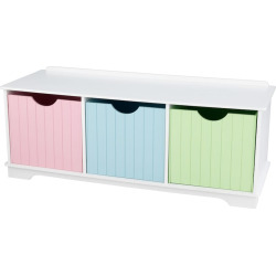 KidKraft Nantucket Storage Bench, Multicolor