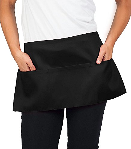 KNG Black Waist Apron, 11 inch, 84 Pack