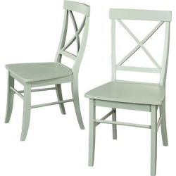 Dining Chair Wood/Mint Green