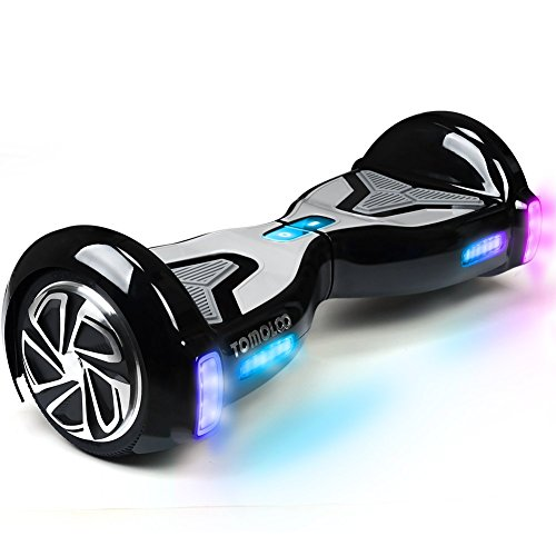 TOMOLOO Hoverboard with App and LED Lights Two-wheel Bluetooth Self Balancing Scooter with UL2272 Certified, 6.5″ Wheel Electric Scooter for Kids and Adult