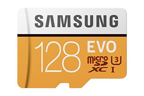 Samsung 100MB/s (U3) MicroSD EVO Memory Card with Adapter 128 GB (MB-MP128GA/AM)