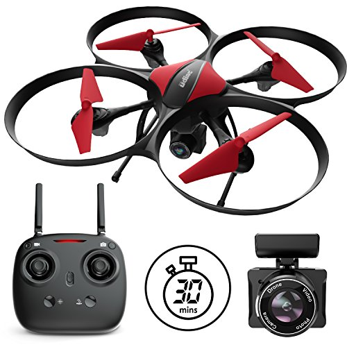 """Force1 Drones Camera – """"U49C Red Heron"""" Camera Drone Kids Adults 720p RC Drone Camera + Drone Video Camera SD Card Drone Kit"""