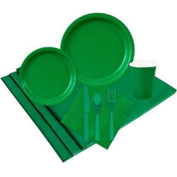 24 Guest Green Party Pack