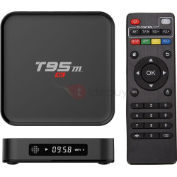 Sunvel T95M Android 4K TV Box Amlogic S905X Quad Core Metal Shell Google TV Player
