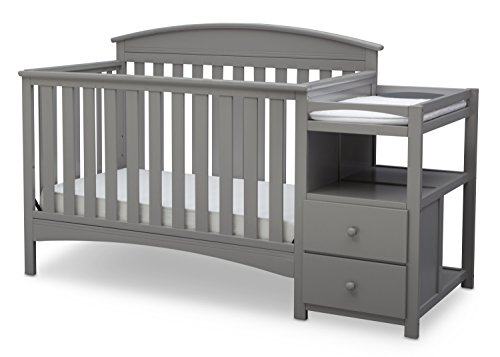 Delta Children Abby Convertible Crib 'N' Changer, Grey