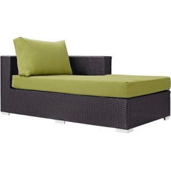 Convene Outdoor Patio Fabric Right Arm Chaise in Espresso Peridot – Modway
