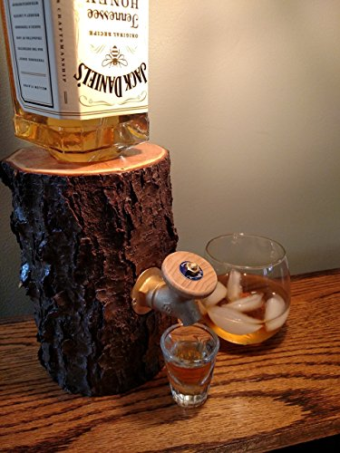Liquor Dispenser, The Real Wood Log Liquor Dispenser – New and Improved, Patent Pending!