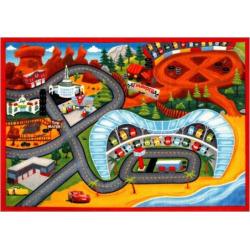 Disney / Pixar Cars 3 Jumbo Play Rug – 4'6″ x 6'6″, Multicolor