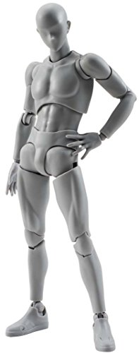 Bandai – Figurine S.H.Figuarts – Body Kun (male) DX Set Grey Color Version – 4549660040880