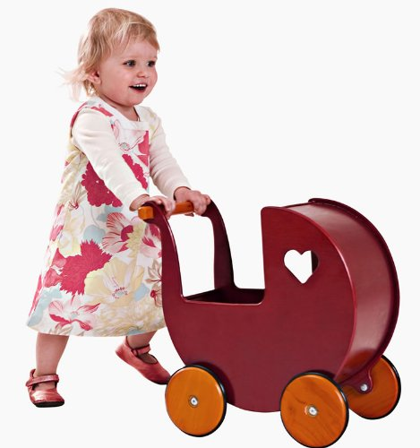 Moover® Doll Pram, Red – Fits Dolls up to 17″ Tall