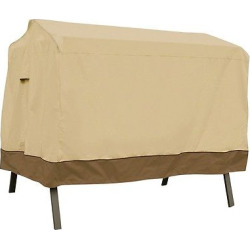 Veranda Patio 3-Seat Canopy Swing Cover – Light Pebble – Classic Accessories