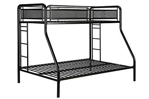 DHP Rockstar Twin/Full Bunk Bed, Black