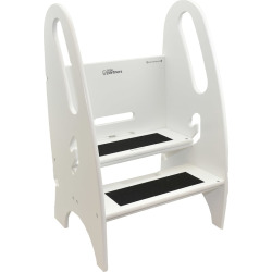 Little Partners 3-in-1 Growing Step Stool, White