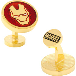 Marvel Iron Man Mask Cuff Links, Red