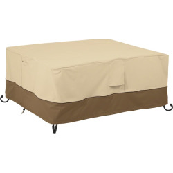 Veranda 56-in. Rectangular Fire Pit Table Cover, Beig/Green (Beig/Khaki)