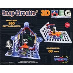 Elenco Snap Circuits 3D M.E.G. Learning Set, Multicolor
