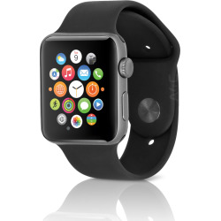 Apple Watch Sport Series 2 38mm Space Gray Aluminum Case – Black (Used)