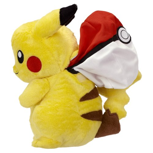 Reversible Plush B&W Series #2 Pikachu Into Poké Ball ~8″