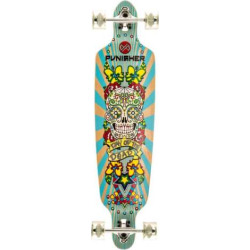 Punisher Skateboards Day Of The Dead 40-in. Complete Longboard, Yellow