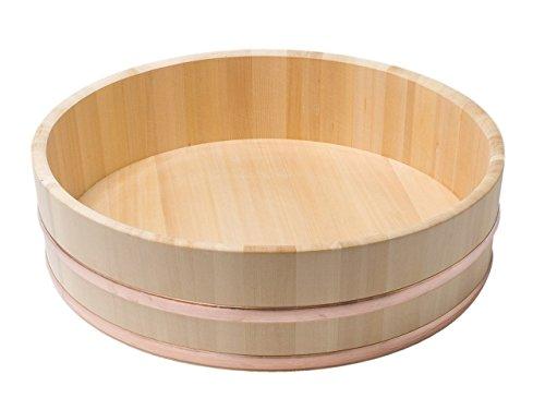 JapanBargain S-4086, Japanese Sawara Cypress Wooden Sushi Oke Hangiri Mixing Bowl, 54 cm