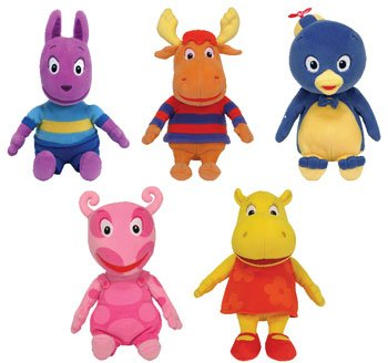 Ty Backyardigans Beanie Baby Set of 5 Beanie Babies