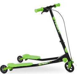 Kids Yvolution Y Fliker Air A1 Green Three-Wheeled Scooter, Multicolor