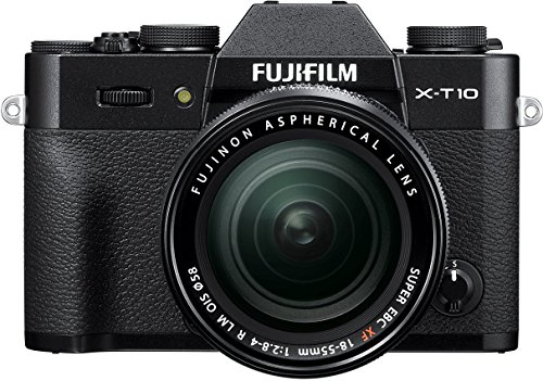 Fujifilm X-T10 Black Mirrorless Digital Camera Kit with XF18-55mm F2.8-4.0 R LM OIS Lens (Old Model)