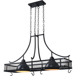 Kenroy Home 2-Light Ceiling Pot Rack, Brown