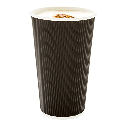 500 ct disposable black 16 oz hot beverage cups with ripple wall design no - Allshopathome-Best Price Comparison Website,Compare Prices & Save