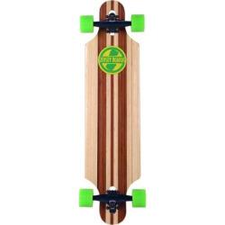 Jersey Boards Bamboo Design Drop-Through Longboard, Multicolor