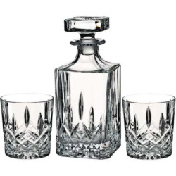 Marquis by Waterford Markham Square Decanter & Double Old-Fashioned Glass Set, Multicolor