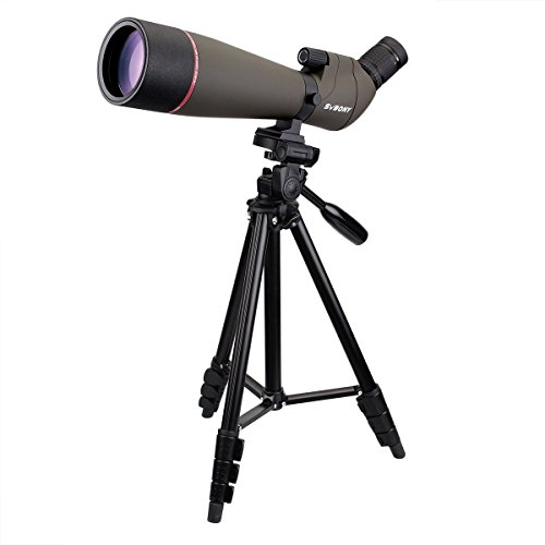 SVBONY SV13 20-60×65/20-60x80mm Spotting Scope Telescope IPX7 Waterproof for Hunting Bird Watching with Carrying Case