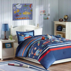 Space Scout Comforter Set – Blue (Twin)
