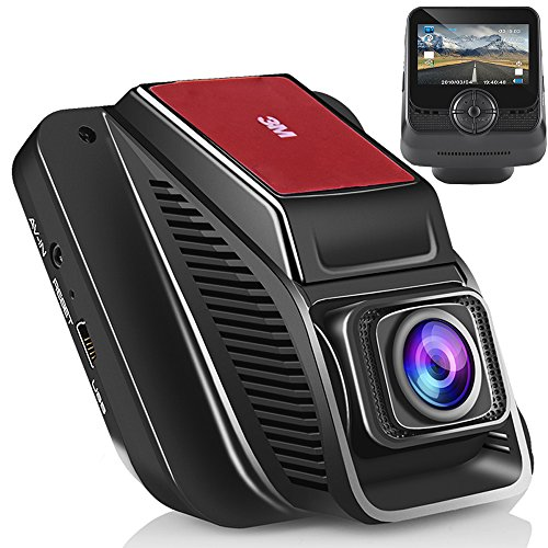 Emmabin Car Dash Cam, WiFi Dashboard Camera Car Driving Video Recorder Camera Full-HD 170 Wide Angle 2.45 inch TFT LCD Screen USB Charging Vehicle Video Camera Loop Recording with Night Vision, Black