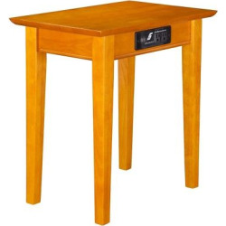 Shaker Chair Side Table with Charger – Caramel Latte – Atlantic Furniture