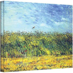 "18 x 24 ""Wheat Field with a Lark"" Canvas Wall Art by Vincent van Gogh, Multicolor"
