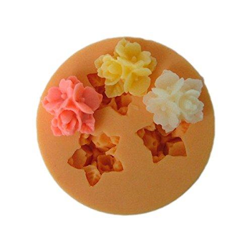 Longzang F031 Fondant Flowers Silicone Sugar Craft Mold Mini, Small, Pink