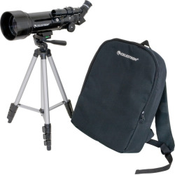 Celestron Travel Scope 70 Portable Telescope, Black