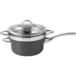 Calphalon Contemporary 4.5 Quart Non-stick Dishwasher Safe Steamer with Insert and Cover, Dark Grey