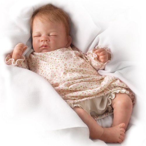 Hush Little Baby Breathes Like a Real Baby – So Truly Real® Lifelike, Interactive & Realistic Newborn Baby Doll 18-inches  by The Ashton-Drake Galleries