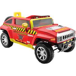 Kid Motorz Fire Engine 12V Hummer Ride-On Vehicle, Multicolor