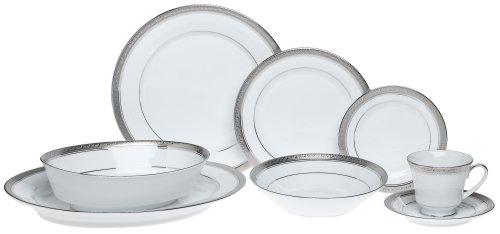 Noritake Crestwood Platinum – 50 piece set, service for eight