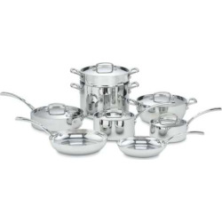 Cuisinart 13-pc. French Classic Tri-Ply Stainless Steel Cookware Set, Grey