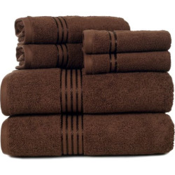 Portsmouth Home Hotel 6-piece Bath Towel Set, Brown