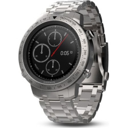 Garmin fenix Chronos GPS Watch with Brushed Stainless Steel Watch Band, Silver