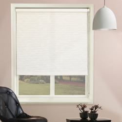 Chicology Textured Roller Shade, White