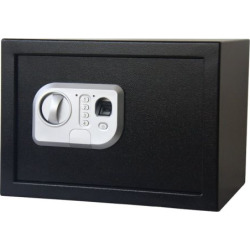 Stalwart Electronic Fingerprint and Digital Steel Safe, Black