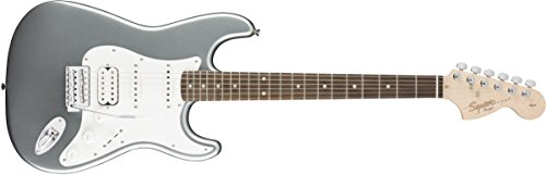 Squier by Fender Affinity Stratocaster HSS Beginner Electric Guitar – Rosewood Fingerboard, Slick Silver