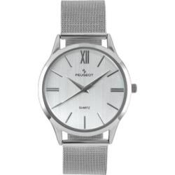 Peugeot Men's Slim Case Stainless Steel Watch, Grey