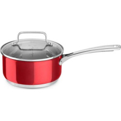 KitchenAid 3-qt. Stainless Steel Saucepan with Lid, Red